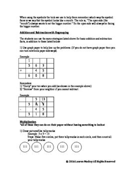"3rd grade math ""tricks""/strategies for teaching math concepts"