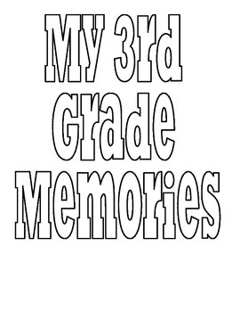 3rd grade memory cover page