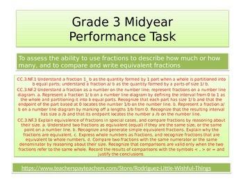 3rd grade mid year Math Performance task 2015 version