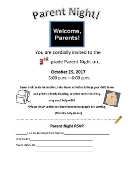 3rd grade parent letter- personalized- October 25th 2017