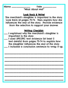 3rd grade reading streets Look back and Write Unit 1 Week 2