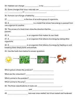 3rd grade science review package