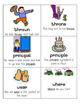 3rd grade sound alike words