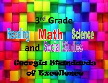 3rd grade standards -GSE- owl theme