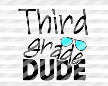 3rd grade svg School party svg School shirt design Cut files Cricut Silhouette