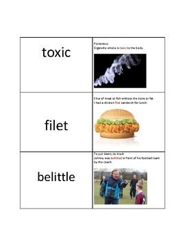 3rd grade vocabulary match 1
