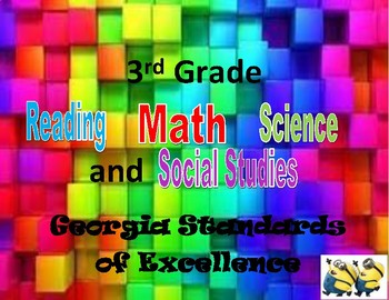 3rd grades standards - GSE (All Subjects) minion theme