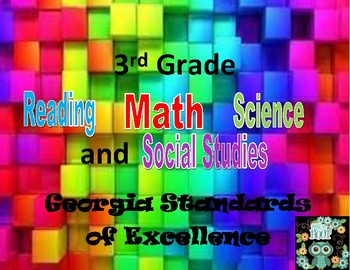3rd grades standards - GSE (All Subjects) owl theme