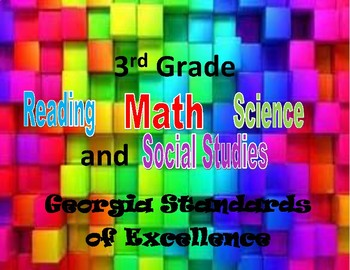 3rd grades standards - Georgia Standards of Excellence (All Subjects)