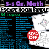 Math Escape Room Bundle for 3rd 4th 5th Grade: Fact Families, Word Problems, etc