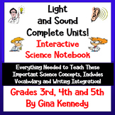 Light and Sound Interactive Science Notebook; Lessons, Writing and More
