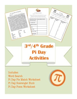 3rd/4th Common Core Aligned Pi Day Math and Language Arts