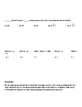 3rd/4th Grade Cognitively Guided Instruction Math