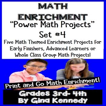 3rd & 4th Grade Math Enrichment Projects Set #4