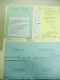 3rd/4th Grade Math Foldables Lapbook for notebooks or STAA