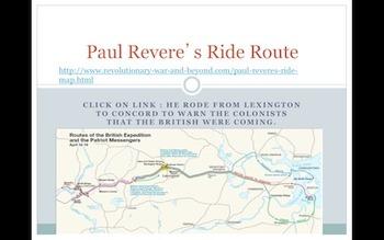 3rd/4th Grade Paul Revere Powerpoint PPT