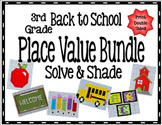 3rd / 4th Place Value: Back to School Solve & Shade: Aligned to TEKS and CCSS