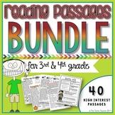 3rd+4th Grade Reading Passages Bundle