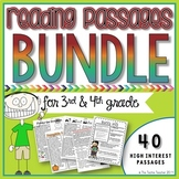 3rd+4th Grade Reading Passages Bundle