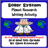 Solar System Project, Fun Research Questions, Creative Writing and More