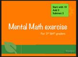 Mental Math Cards 3rd/4th grade