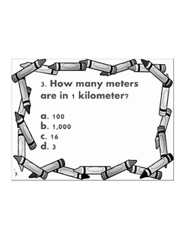 3rd/4th/5th Measurement Conversion Quiz 4.MD.A.1