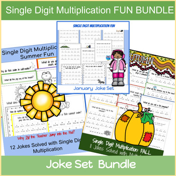 Single Digit Multiplication: Joke Set Bundle