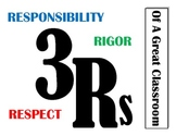 3rs of a great classroom - rules