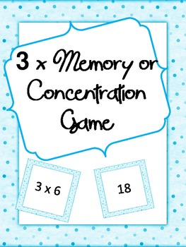 3x Memory or Concentration Game