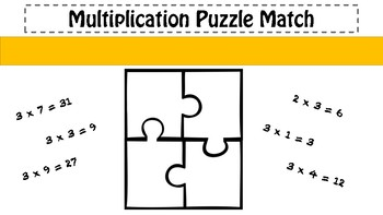 3x Table Puzzle Match