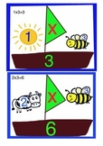3x tables visual aid. 3 times tables mnemonic