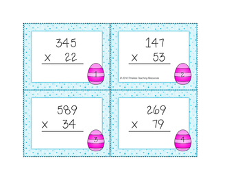 Multiplication Game with Task Cards