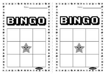 3x3 BINGO sheets FREEBIE
