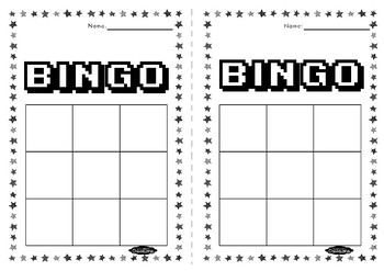 3x3 BINGO sheets FREEBIE