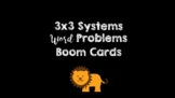 3x3 Systems Word Problems BOOM Cards