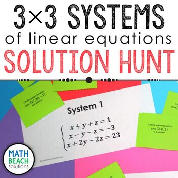 3x3 Systems of Equations Solution Hunt