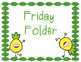 3x4 Pineapple Themed Friday Folders Labels