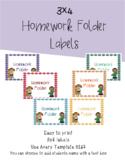 3x4 Homework Folder Labels