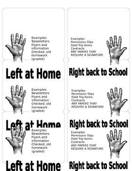 3x4 Parent Communication Folder Labels