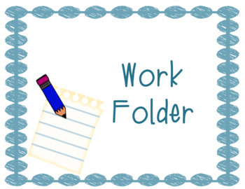 3x4 Work Folder Labels