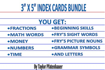 3x5 Card Bundle