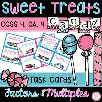 4.0A.4 Multiples and Factors Task Cards