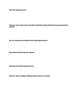 4.1 Guided Reading for Macgruder American Government