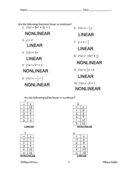 4-1 Linear or Nonlinear