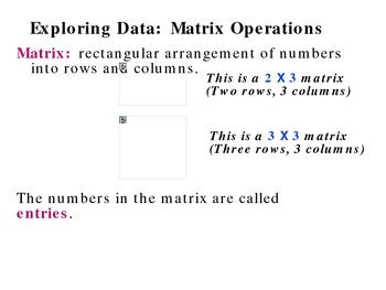 4-1 Matrix Operations