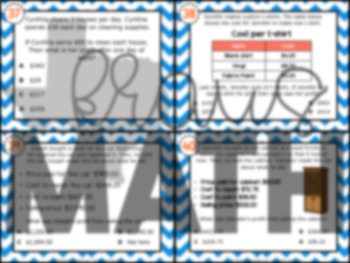 4.10B: Calculating Profit STAAR Test-Prep Task Cards (GRADE 4)
