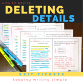 How to Revise: Deleting Details Exit Tickets