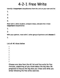 4-2-1 Freewrite Activity