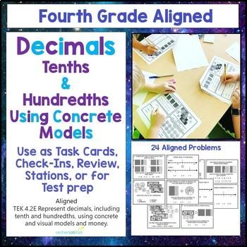 4.2 E Decimals Tenths Hundredths using Concrete Models & Money