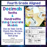 4.2 E Decimals Tenths Hundredths using Concrete Models & Money